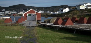 Fogo, Fogo Island, NL - old fish flakes and houses