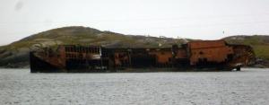 Bernier shipwreck in Red Bay, NL