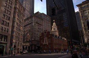 Boston - Old State House, site of the Boston Massacre