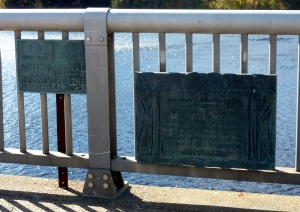 the International Boundary on the bridge